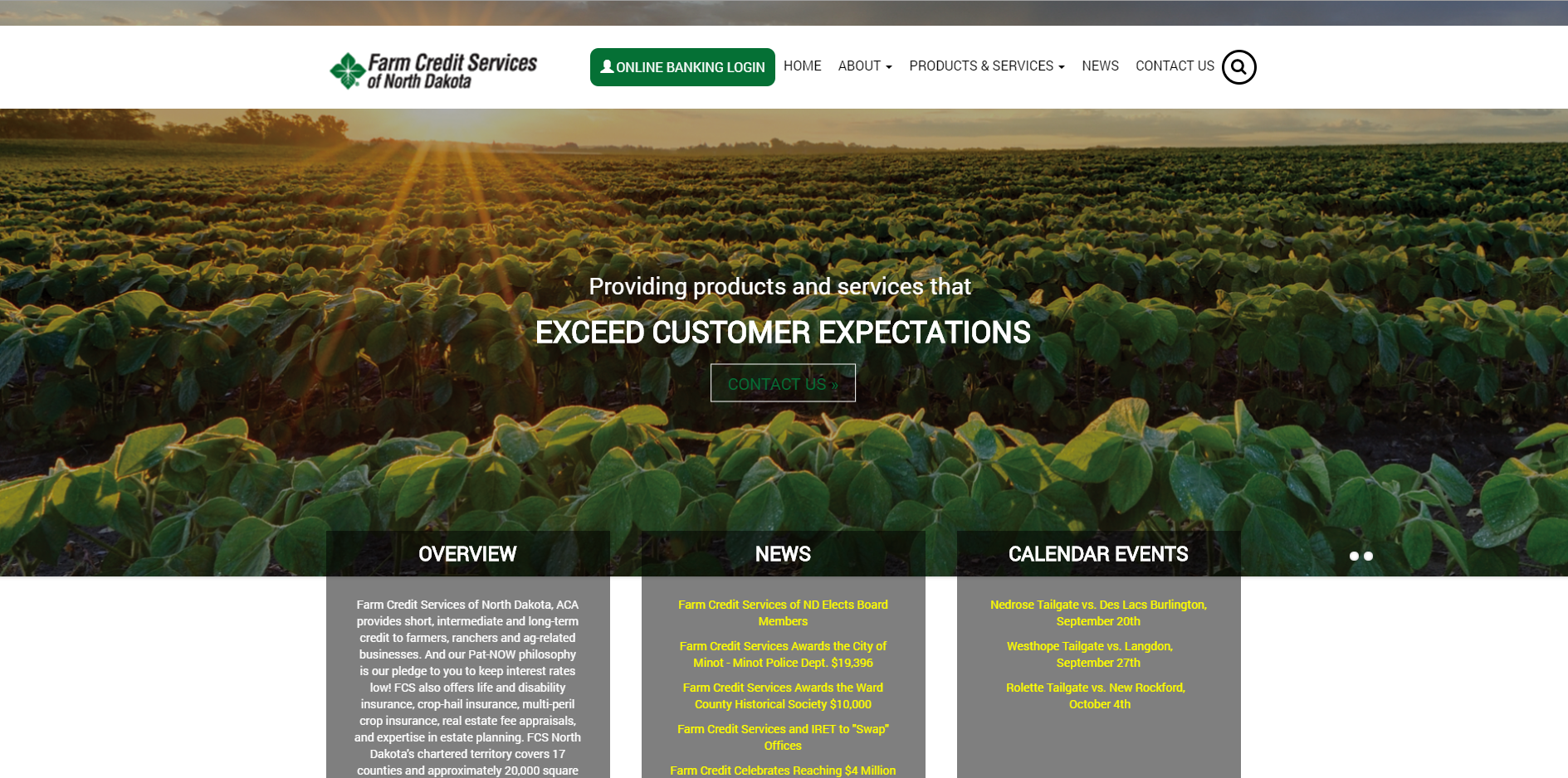 farm credit services website homepage