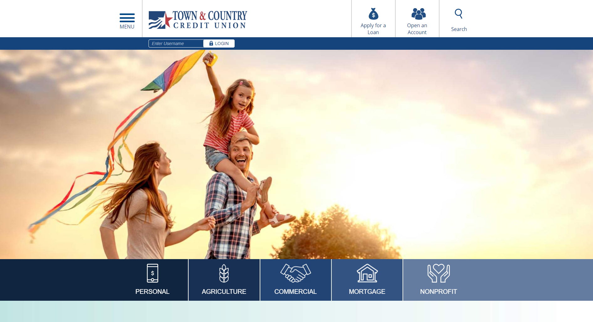 town and country credit union website homepage